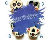 CUSTOM listing for DEB.  Day of the Dead Jewelry,  Sugar Skull Pin, Dia de los Muertos,  Halloween  Accessories
