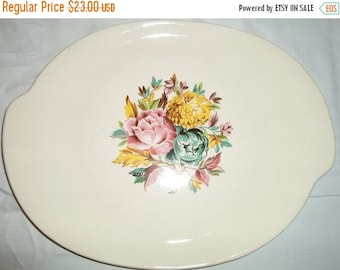 ON SALE Vintage retro American Limoges china platter Glamour
