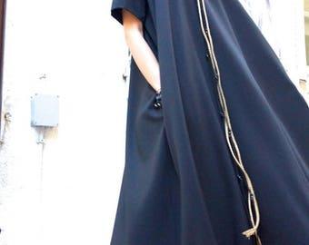 SALE NEW Maxi Dress / Black Kaftan / Extravagant Long  Dress / Party Dress / Daywear Dress by AAKASHA A03137