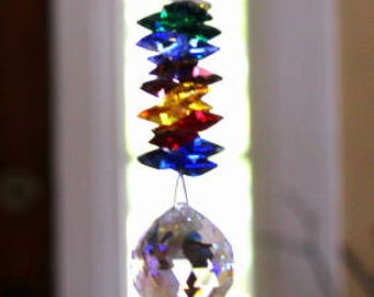 Beautiful Colorful Swarovski Chakara Sun Catcher