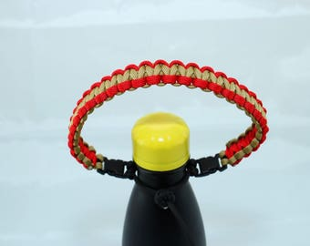 Red & Gold Color Paracord Handle