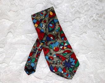 Museum of Fine Arts Boston Men's Tie  - Modern Art - Bold Graphics - Made in USA -  100% Silk
