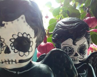 Skeleton Day of the Dead Figurines Alphonse and Vincent