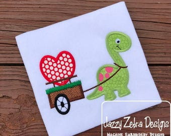 Valentines Dinosaur - Dino Heart - Boy's custom Valentine shirt