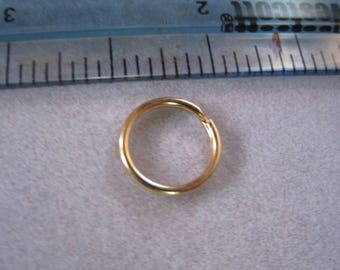 Split ring, Key chain rings, Key Rings, 12mm round, gold plated steel