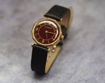 15% off Rare Swiss Women's Watch Dugena 1960's - gold filled
