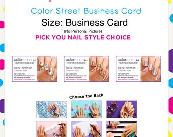Color Street Business Card 3 --Custom Digital Download