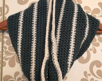 Blue & White Cowl