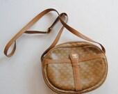 Vintage Celine Shoulder Bag in Brown Monogram Logo Crossbody Messenger