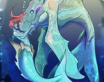Strange Creatures Fantasy Coloring Book PDF Download Adult Coloring Teen Coloring Horror Monsters Werewolves Mermaids Creatures