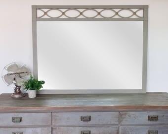 Unique Wall Mirror - Vintage Home Decor - Decorative Wall Mirror - Country Cottage Decor - Shabby Chic Mirror - Fixer Upper Decor