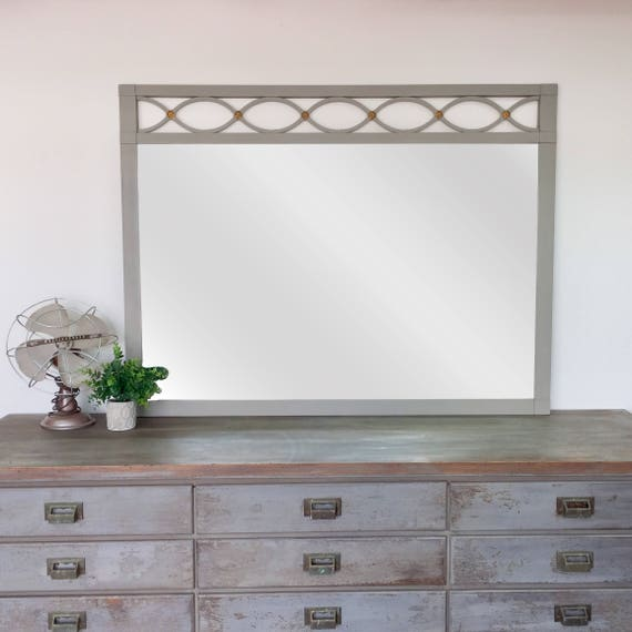 Unique Wall Mirror - Vintage Home Decor - Decorative Wall Mirror - Country Cottage Decor - Shabby Chic Mirror - Fixer Upper Decor