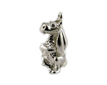 Sterling Silver Mythical Dragon Charm For Bracelets
