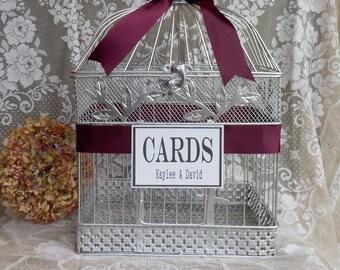 Wedding Bird Cage Money Holder, Card Box, Birdcage Card Holder, Shower Cards, Silver Wedding Anniversary Supplies Wedding Cards Shower Cards