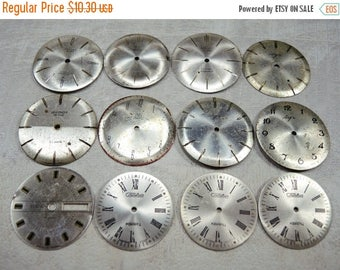 ON SALE Old Watch Faces - set of 12 - c54
