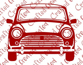 Mini cooper vector, mini car svg clipart, cut outline car vintage vehicle digital download, eps, ai, file