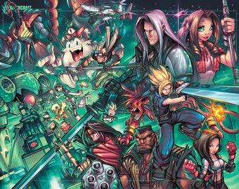 Final Fantasy 7  Tribute Prints