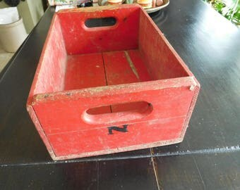 Antique Red Wooden Box