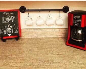 ON SALE Coffee mug holder, coffee cup holder, coffee mug rack, coffee cup display, coffee cup display, coffee decor, kitchen decor, kitchen