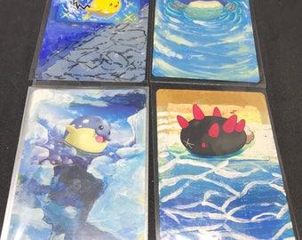 Hand painted Pokémon cards