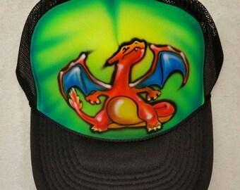 Custom airbrush snapback hats