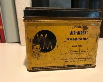 Welsh Air-Aider Respirator Tin