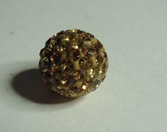Pearl disco balls gold with Rhinestone