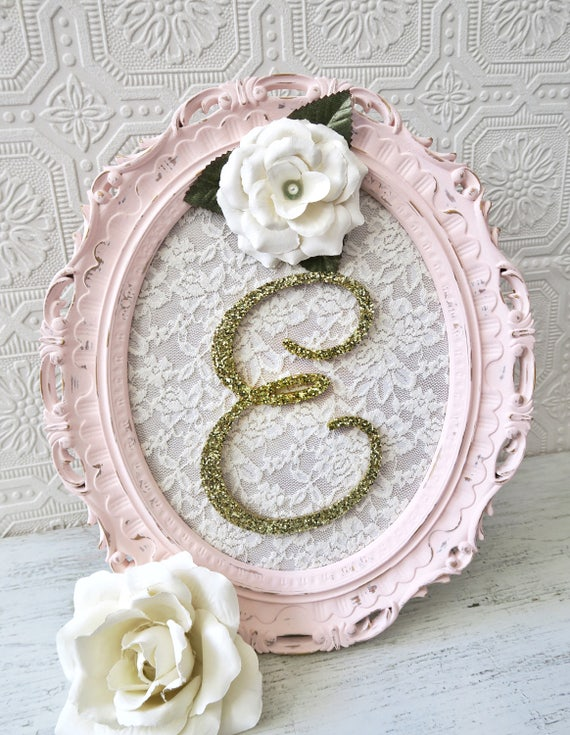Nursery Letter E Baby Girl Nursery Decor Shabby Chic Nursery