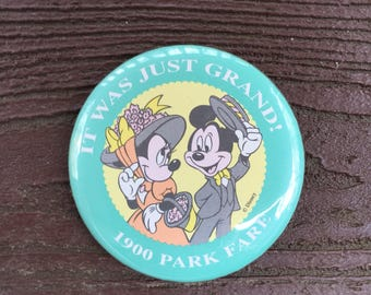 Vintage Walt Disney World 1900 Park Fare Grand Floridian Resort Mickey & Minnie Mouse Pin Brooch