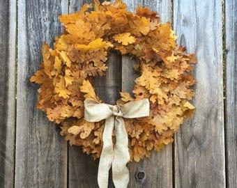 Preserved California Oak Wreath