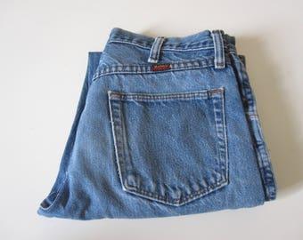 Worn Vintage Denim Straight Leg Work Jeans