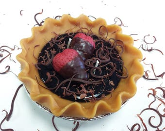 "5"" Chocolate Silk Pie Candle"