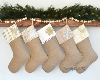 family christmas stocking set of 5 christmas stockings stockings burlap stockings
