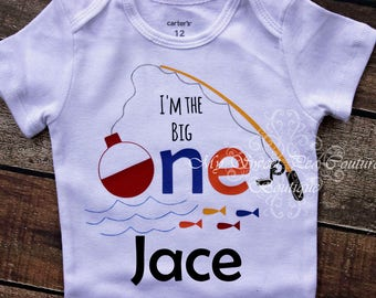 I'm the Big One First Birthday Outfit- Fishing 1st Birthday- Fish First Birthday Outfit- 1st Birthday- Fishing Birthday- Big One- Shirt