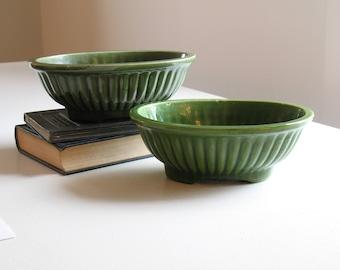 Vintage mid century green ceramic planter / Haeger Pottery 3938 USA / boho houseplant decor