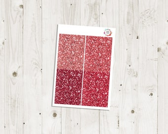 Red Glitter Headers - ECLP Stickers