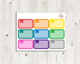 Flagged Half Box Planner Stickers  - ECLP Sticker