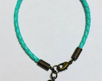 Just a Little Nuts Braided Leather Bracelet