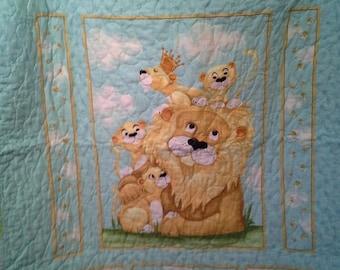 Sale Lyon King Simba Teal Yellow Green Gender Neutral Nursery Jungle Bedding Lion Crib Nursery Animal Baby Shower New Baby Gift Etsy Baby
