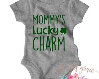 Mommy's Lucky Charm - St Patricks Day Shirt - St Patricks Day - St Patricks Day Tee - St Patricks Day Baby - St Patricks - St. Patricks Day
