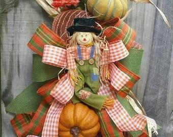 Fall door hanger, Scarecrow door hanger, Fall swag, Scarecrow swag, Pumpkin Door Hanger, Pumpkin swag, Fall wreath, Fall floral swag