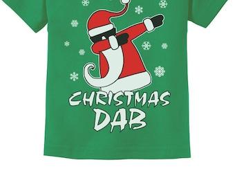 Dabbing Santa Christmas Dab Funny Ugly Xmas Toddler Kids T-Shirt