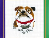 English Bulldog cross stitch kit by RIOLIS Ref. no.: HB177