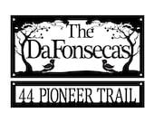 The DaFonsecas Metal Name and Address Signs