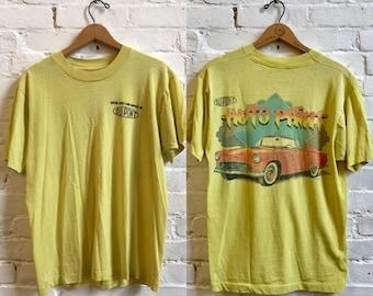 80s paper thin t shirt car automobile business Ou Pont auto paint vintage tshirt short sleeve tee size large
