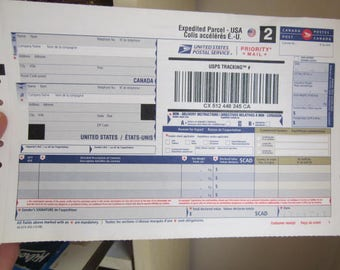EXPEDITED PARCEL Extra Postage to USA.