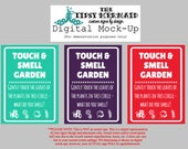 "3x Custom Cut Signs - 8"" by 11"" - ""Touch and Smell Garden"""