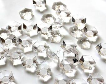 Clear, Edible Diamonds, Wedding Cake Topper, Cake Decorations, Breakfast at Tiffanys, Bridal Shower, Denim and Diamond Party, Faceted Gems