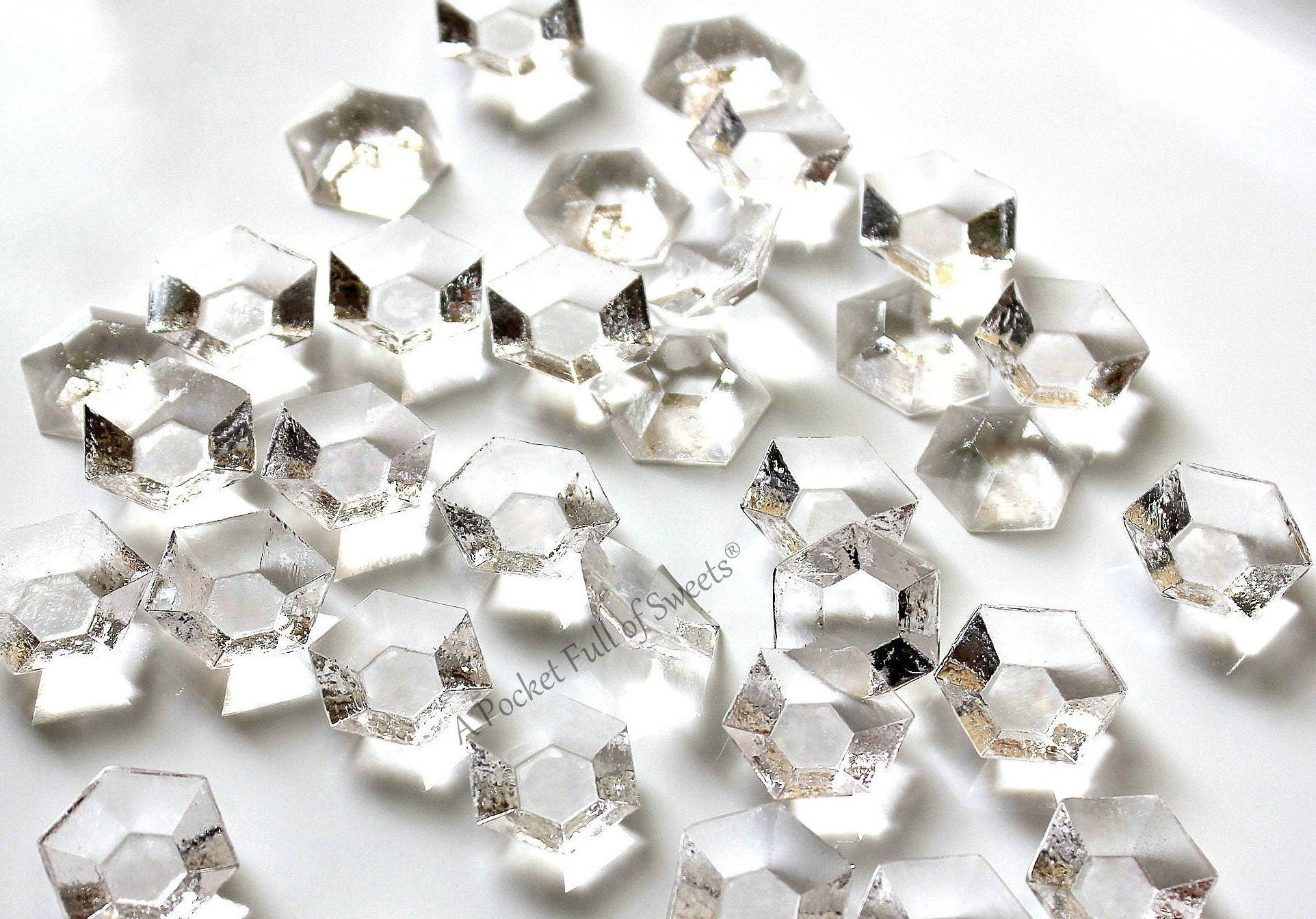 Edible Cake Decorations Diamonds : Clear Edible Diamonds Wedding Cake Topper Edible Cake