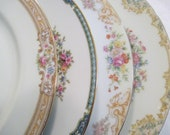 Vintage Mismatched China Dinner Plates for Farmhouse, Shabby, Rustic, Wedding,Bridal Luncheon,Showers,Hostess Gift,Bridesmaid Gift-Set of 4